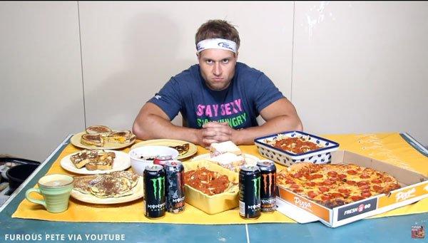 Furious Pete Michael Phelps 12,000 Calorie Diet Challenge